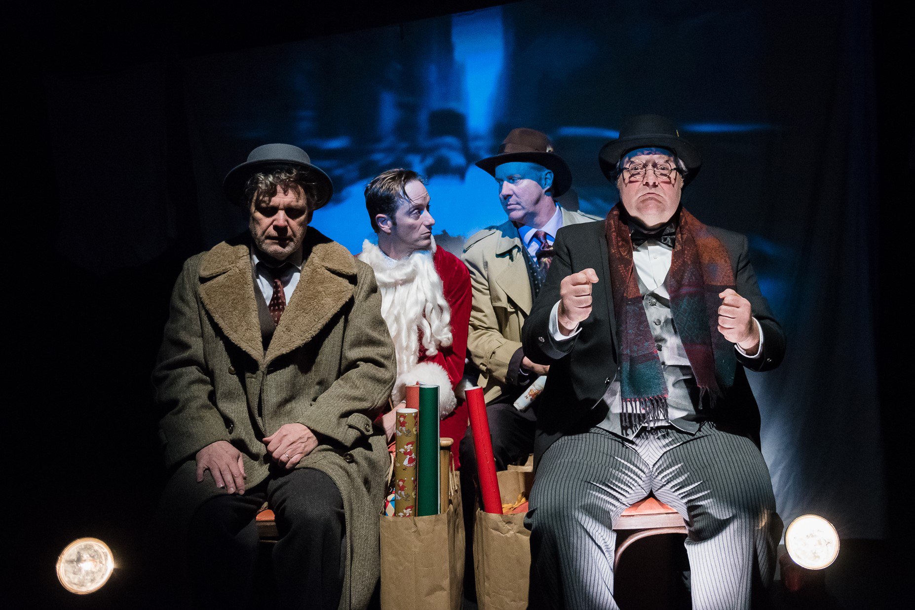 Three Wise Guys cast and set