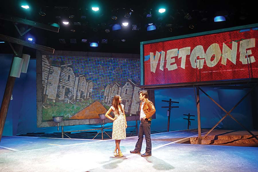PHOTO CREDIT: ​Maureen Sebastian and Raymond Lee in South Coast Repertory's 2015 world premiere of Vietgone by Qui Nguyen. Photo by Ben Horak/SCR.
